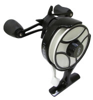 Катушка 13 Fishing Black Betty Free Fall Ghost Ice Reel-2.5:1 Gear Ratio w/NEW Line Window-Left Hand-GLOW Spool/Trigger (BBFFGWBOG2.5-LH)
